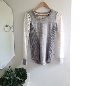 Anthropologie Casual Creations gray top